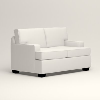 Clarkedale Loveseat Upholstery: Classic Bleach White