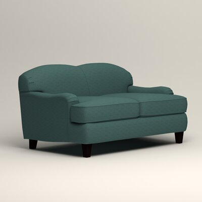 Cheshire Loveseat Upholstery: Lizzy Prussian