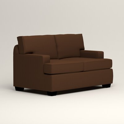 Clarkedale Loveseat Upholstery: Microsuede Chocolate