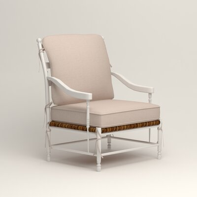 Stephanie Arm Chair Color: Bailey Papyrus Blended Linen