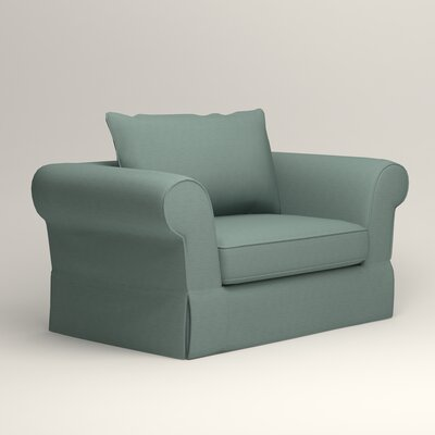 Owen Chair Fabric: Bryant Calypso Textured Slub