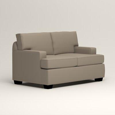 Clarkedale Loveseat Upholstery: Tibby Linen