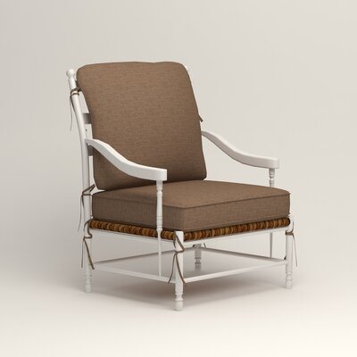 Stephanie Arm Chair Color: Bailey Mushroom Blended Linen