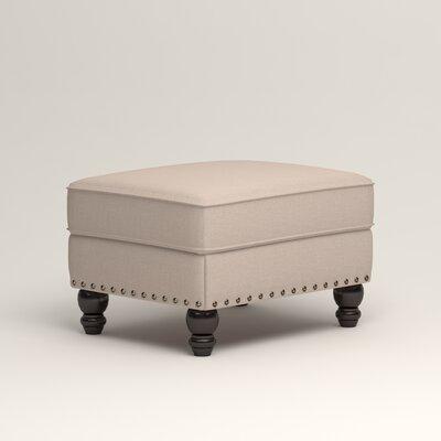 Landry Ottoman Upholstery: Lizzy Linen