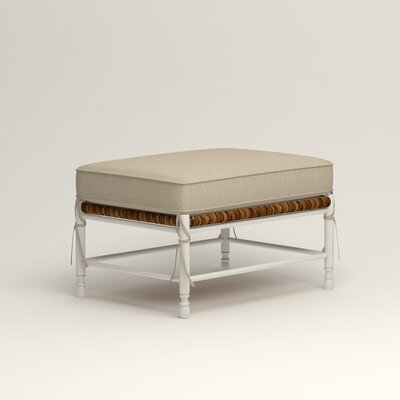 Stephanie Ottoman Upholstery: Watson Malt Blended Cotton