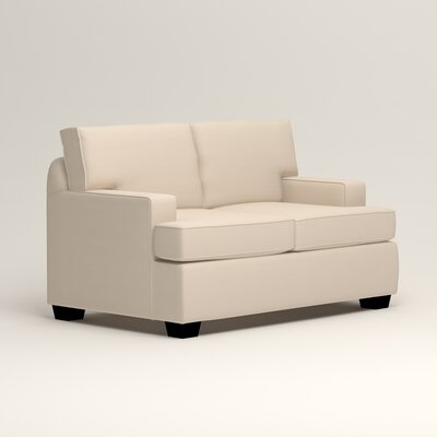 Clarkedale Loveseat Upholstery: Microsuede Oyster