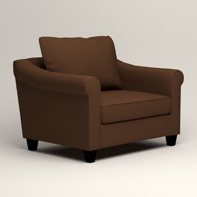 Brooke Armchair Upholstery: Microsuede Chocolate