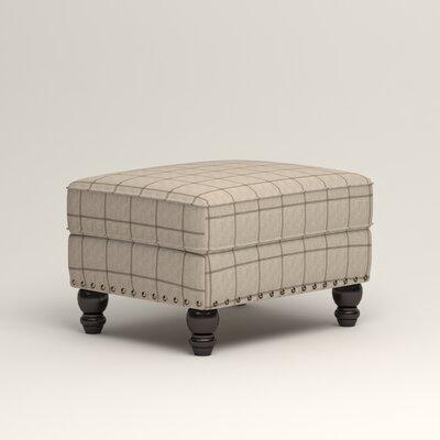Landry Ottoman Upholstery: Burnham Parchment Windowpane
