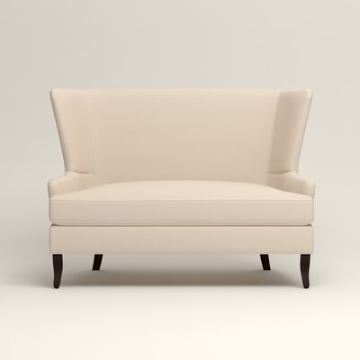 Elliot Settee Upholstery: Microsuede Oyster