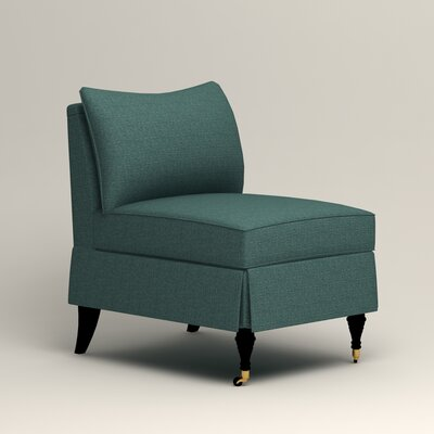 Kendall Slipper Chair Color: Bailey Aegean Blended Linen