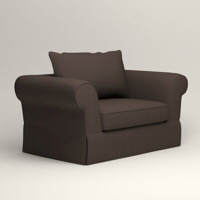 Owen Chair Upholstery: Microsuede Charcoal