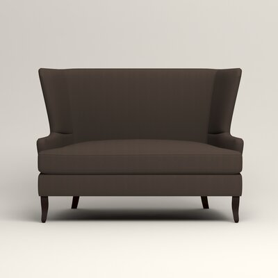Elliot Settee Upholstery: Microsuede Charcoal