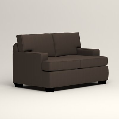 Clarkedale Loveseat Upholstery: Microsuede Charcoal