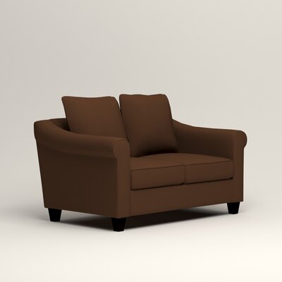 Brooke Loveseat Upholstery: Microsuede Chocolate