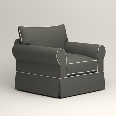 Jameson Chair with Contrast Welt Color: Griffin Shadow Twill