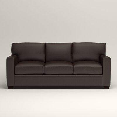 Pratt Leather Sofa Upholstery: Vintage Flint