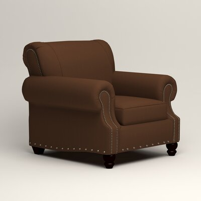 Landry Chair Upholstery: Microsuede Chocolate