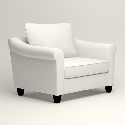 Brooke Armchair Upholstery: Classic Bleach White