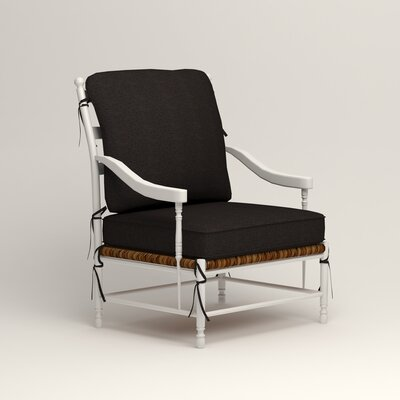 Stephanie Arm Chair Color: Bryant Ebony Textured Slub