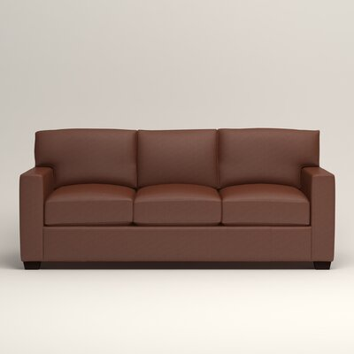 Pratt Leather Sofa Upholstery: Steamboat Chestnut