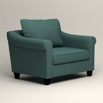 Brooke Armchair Upholstery: Lizzy Prussian
