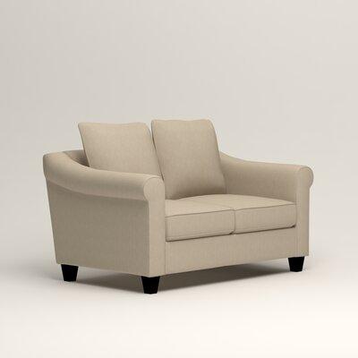 Brooke Loveseat Upholstery: Denton Beige