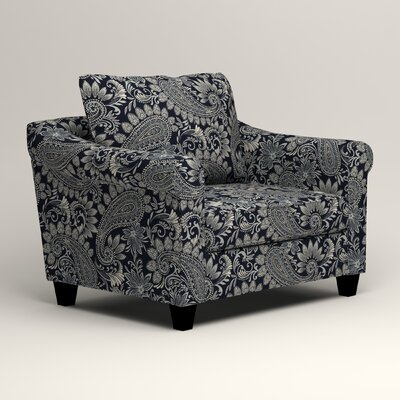 Brooke Armchair Upholstery: Nadia Denim