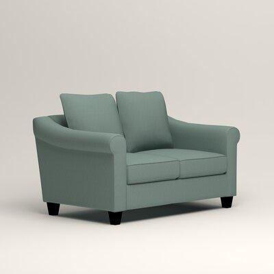 Brooke Loveseat Upholstery: Hilo Turquoise
