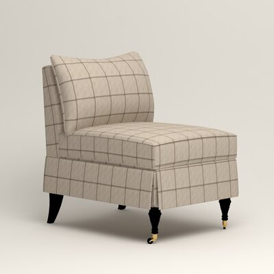 Kendall Slipper Chair Color: Burnham Parchment Windowpane
