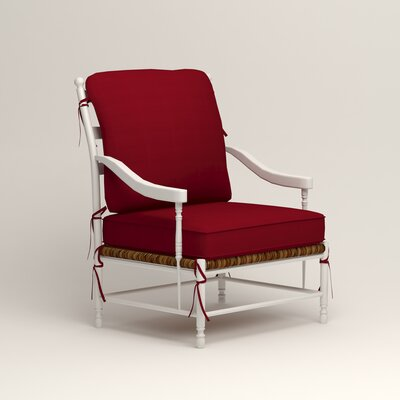Stephanie Arm Chair Color: Tillery Crimson