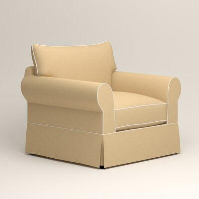 Jameson Chair with Contrast Welt Color: Griffin Buttercup Twill