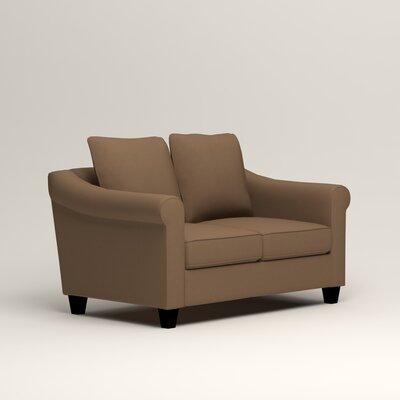 Brooke Loveseat Upholstery: Microsuede Cappucino