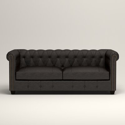 Hawthorn Leather Sofa Upholstery: Vintage Ash