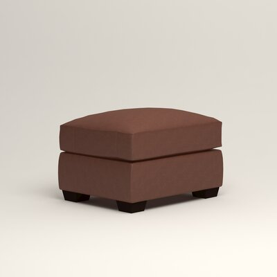 Pratt Leather Ottoman Upholstery: Steamboat Chestnut