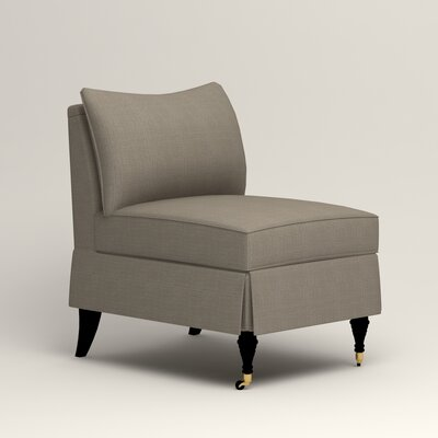 Kendall Slipper Chair Color: Bryant Slate Textured Slub