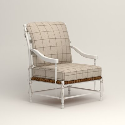 Stephanie Arm Chair Color: Burnham Parchment Windowpane