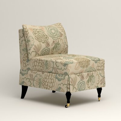 Kendall Slipper Chair Color: Barlow Sunwashed Jacquard