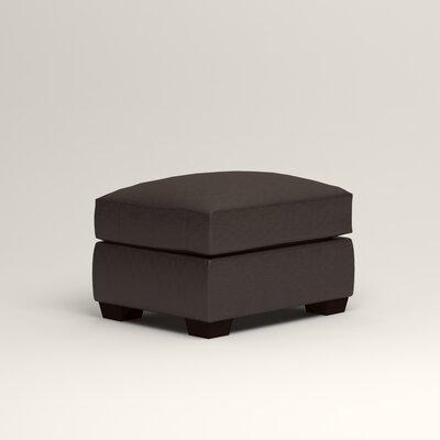 Pratt Leather Ottoman Upholstery: Vintage Flint