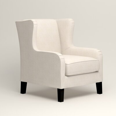 Easton Wingback Chair Upholstery: Bevin Natural