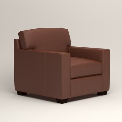 Pratt Leather Armchair Upholstery: Steamboat Chestnut