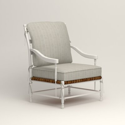 Stephanie Arm Chair Color: Douglas Harbor Stripe
