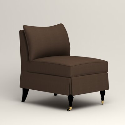 Kendall Slipper Chair Upholstery: Bayou Coffee
