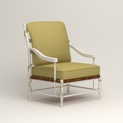 Stephanie Arm Chair Color: Bailey Avocado Blended Linen