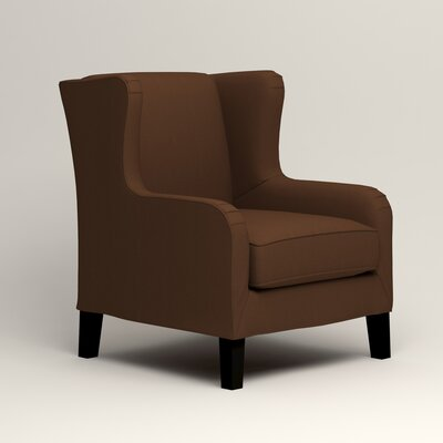 Easton Wingback Chair Color: Jackson Coffee Microsuede