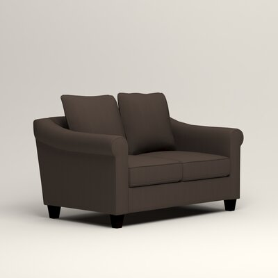Brooke Loveseat Upholstery: Microsuede Charcoal
