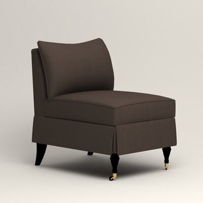 Kendall Slipper Chair Upholstery: Microsuede Charcoal