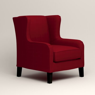Easton Wingback Chair Upholstery: Bayou Flame