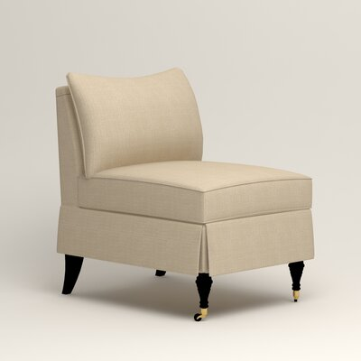 Kendall Slipper Chair Upholstery: Hilo Flax