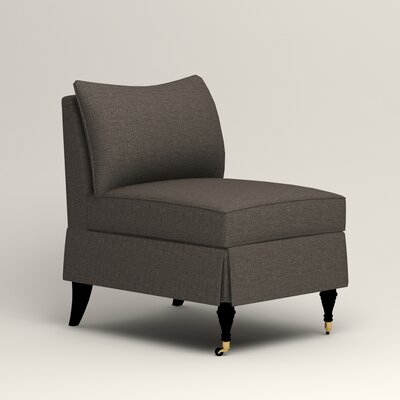 Kendall Slipper Chair Upholstery: Lizzy Graphite
