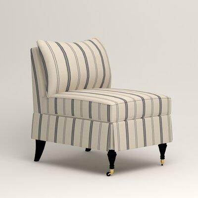 Kendall Slipper Chair Upholstery: Mcallister Indigo